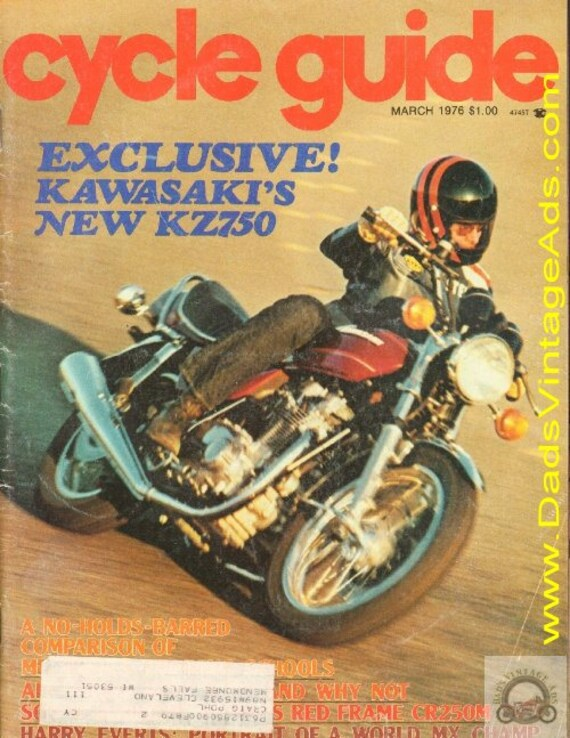 1976 March Cycle Guide Motorcycle Magazine Back-Issue #7603cg