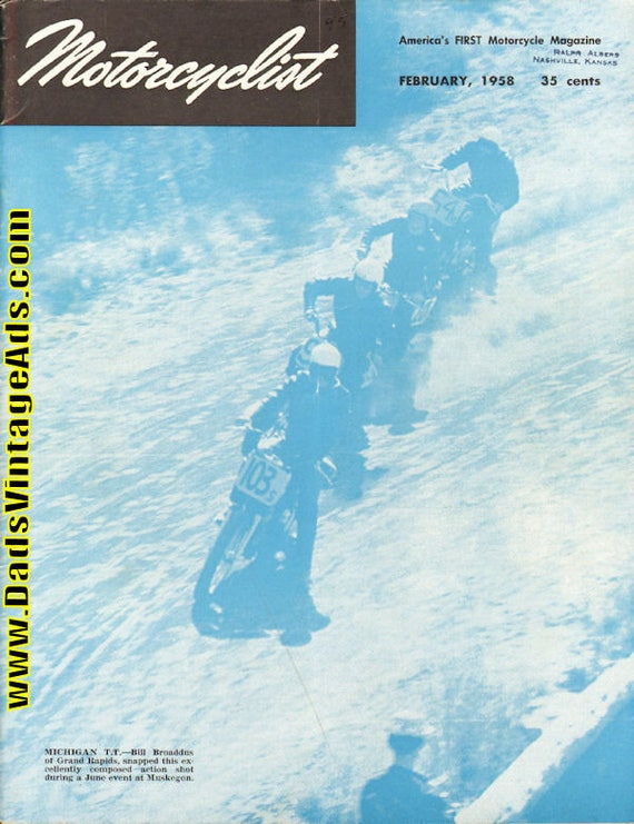 1958 February Motorcyclist Motorcycle Magazine Back-Issue #5802mc
