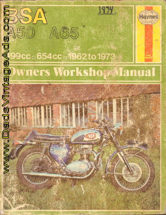 1962-1973 BSA A50 & A65 Series Haynes Owners Workshop Manual #mm99