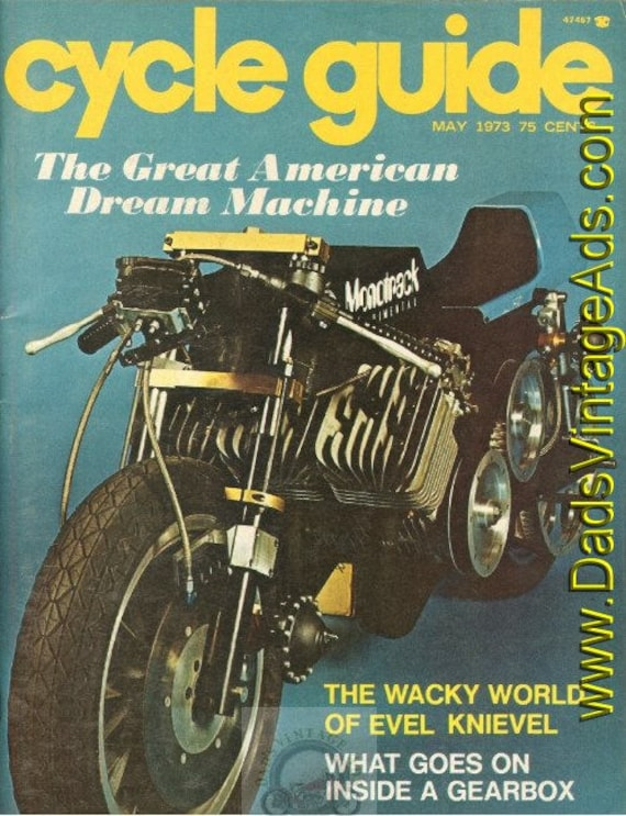 1973 May Cycle Guide Motorcycle Magazine Back-Issue #7305cg