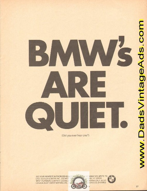 1965 BMW's Are Quiet - Did you ever hear one? Ad #e65ka14sld
