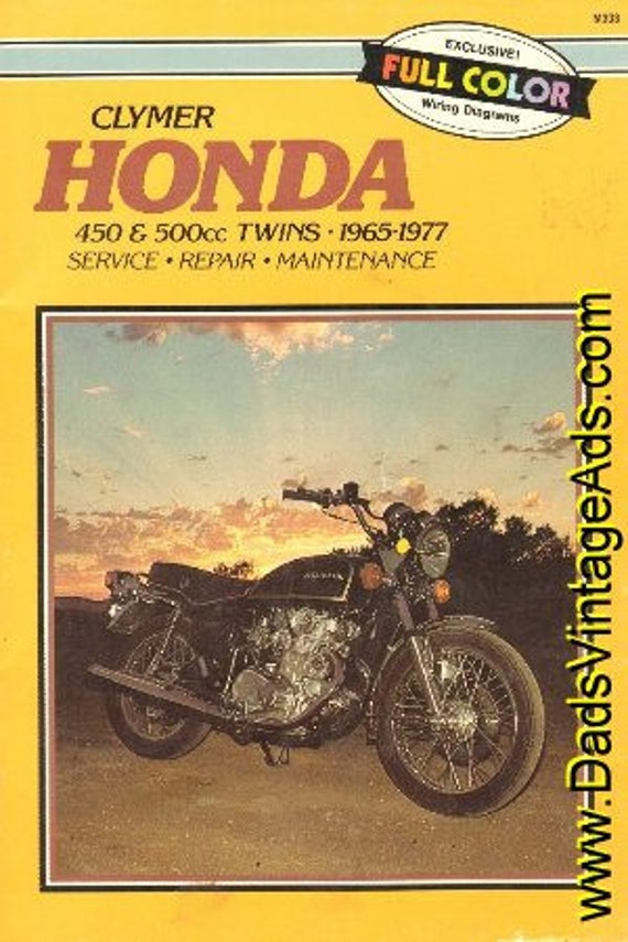 1965-1977 Honda 450 & 500cc Twins Clymer Service Repair Handbook Manual #mm35