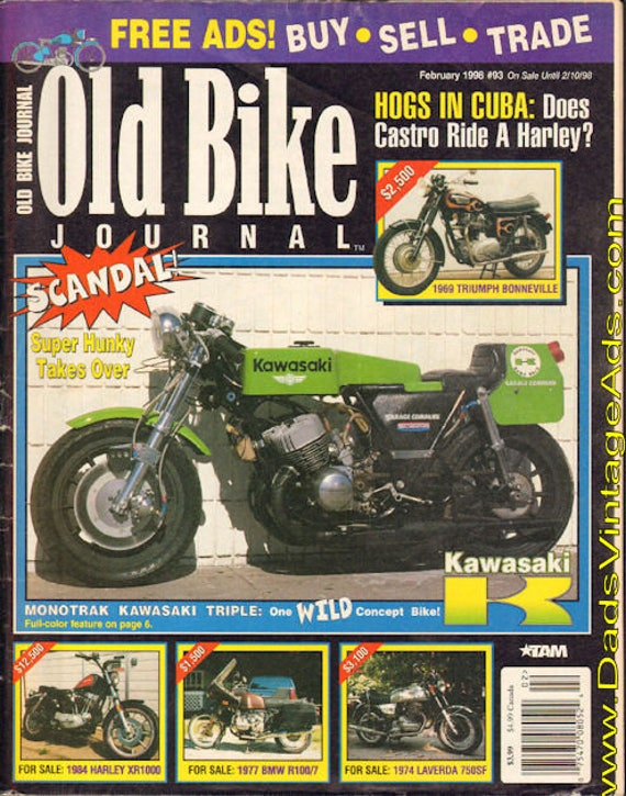 1998 February Old Bike Journal Motorcycle Magazine Back-Issue #9802obj