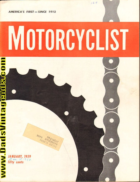1959 January Motorcyclist Motorcycle Magazine Back-Issue #5901mc