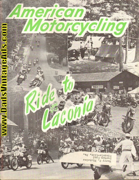 1962 June American Motorcycling Motorcycle Magazine Back-Issue #6206amot