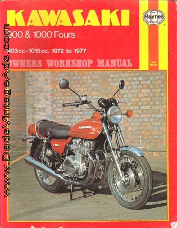 1972-1977 Kawasaki 900 & 1000 Fours Haynes Owners Workshop Manual #mm85