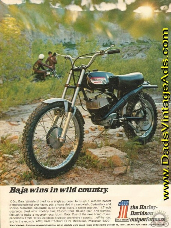 1971 Harley-Davidson 100cc Baja - Baja wins in wild country Ad #de71fa02