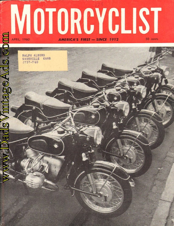 1960 April Motorcyclist Motorcycle Magazine Back-Issue #6004mc