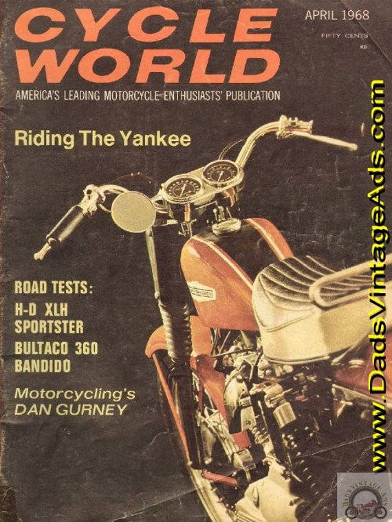 1968 April Cycle World Motorcycle Magazine Back-Issue #6804cw