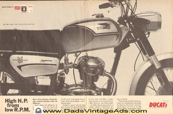 1966 Ducati Monza Jr. 160cc, bevel gear driven overhead cam 2-Page Ad #e66ia22