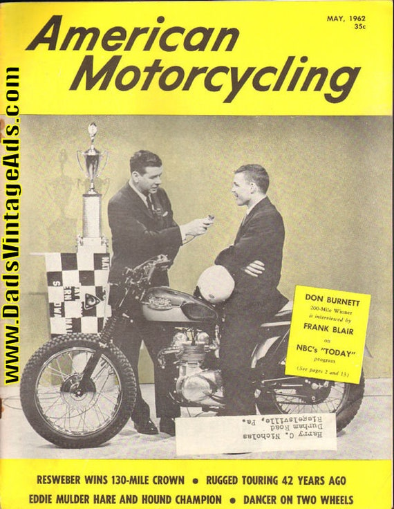 1962 May American Motorcycling Motorcycle Magazine Back-Issue #6205amot