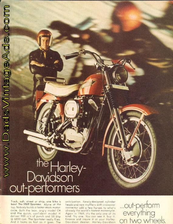 1969 Harley-Davidson Sportster Ad #e68kb01