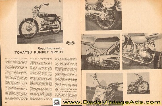 1963 Tohatsu Runpet Sport - Road Impression 2-Page Article #d63ab10