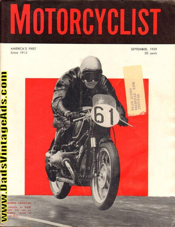 1959 September Motorcyclist Motorcycle Magazine Back-Issue #5909mc