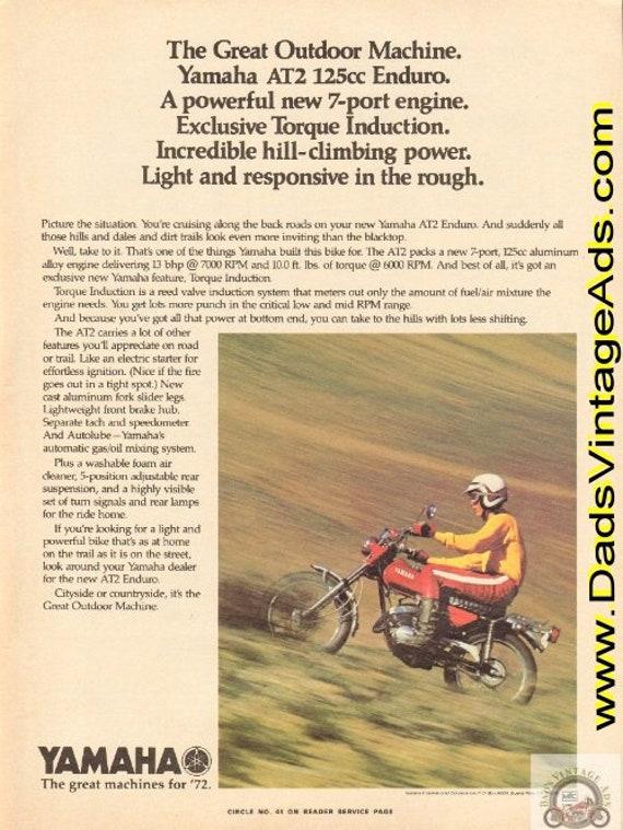1972 Yamaha AT2 125cc Enduro - The Great Outdoor Machine Vintage Ad #e72fa03