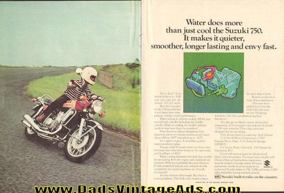 1973 Suzuki 750 Water Cooling 2-Page Ad #e73ca12