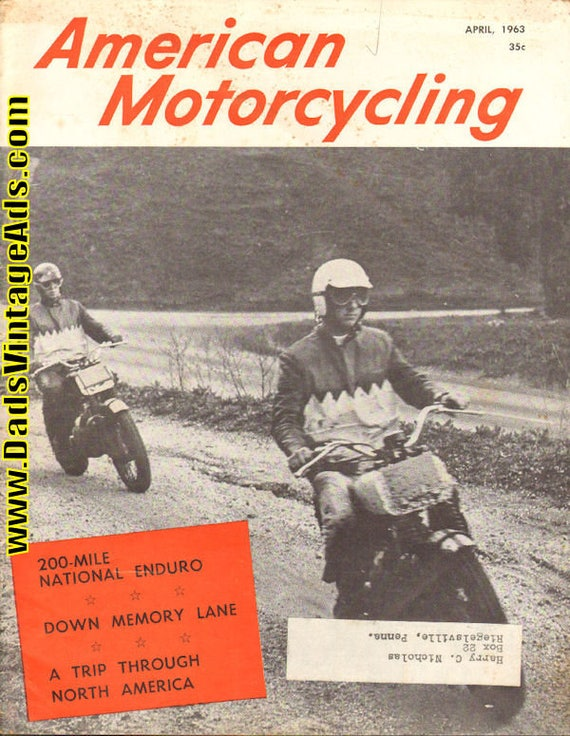 1963 April American Motorcycling Motorcycle Magazine Back-Issue #6304amot