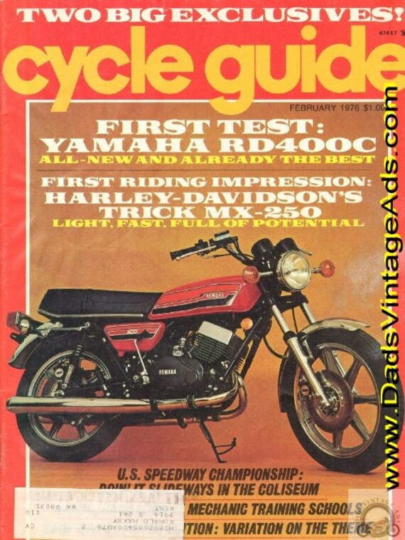 1976 February Cycle Guide Motorcycle Magazine Back-Issue #7602cg