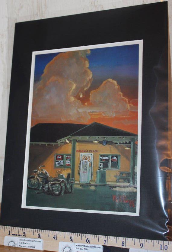 Easyriders ''Maggie's Place'' Michael Knepp Matted Biker Motorcycle Art #9403ezrmkm