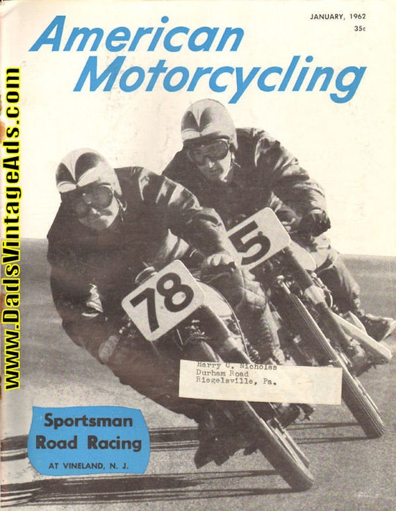 1962 January American Motorcycling Motorcycle Magazine Back-Issue #6201amot