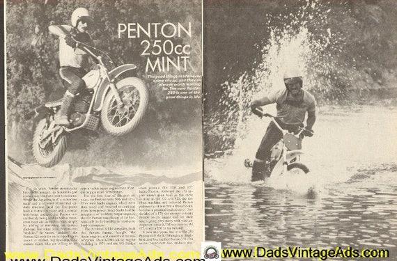 1973 Penton 250 Mint Road Test 7-Page Article #de73ka05