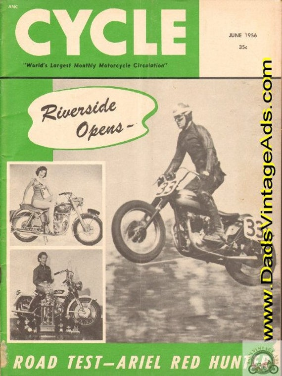 1956 June Cycle Motorcycle Magazine Back-Issue #5606cyc