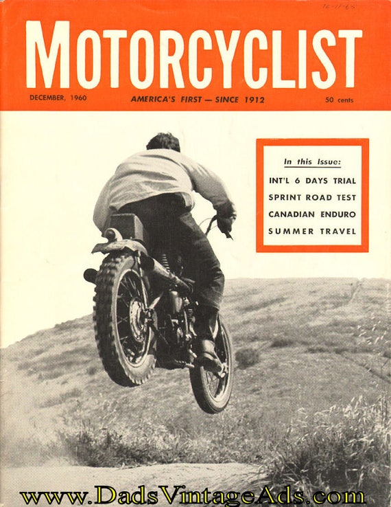1960 December Motorcyclist Motorcycle Magazine Back-Issue #6012mc