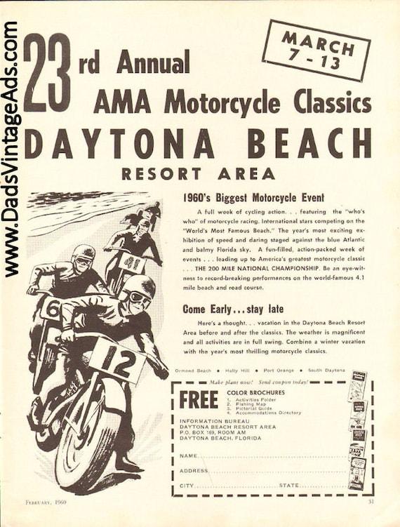 1960 Daytona Beach 23rd Annual AMA Motorcycle Classics Ad #6002amot05