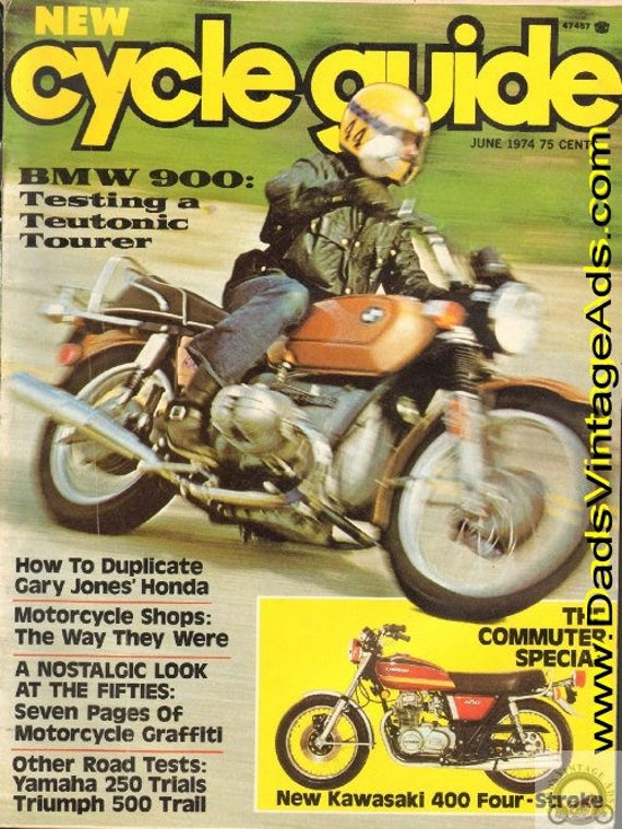 1974 June Cycle Guide Motorcycle Magazine Back-Issue #7406cg