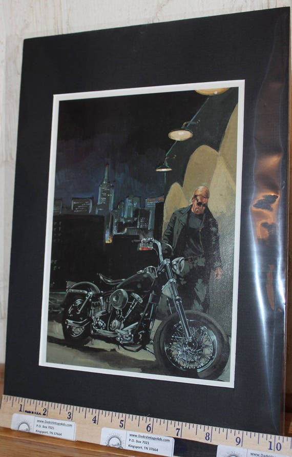 "Easyriders ''White Knight"" Matted Biker Motorcycle Art #9401ezrwkm"