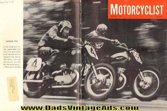 1959 August Motorcyclist Motorcycle Magazine Back-Issue #5908mc