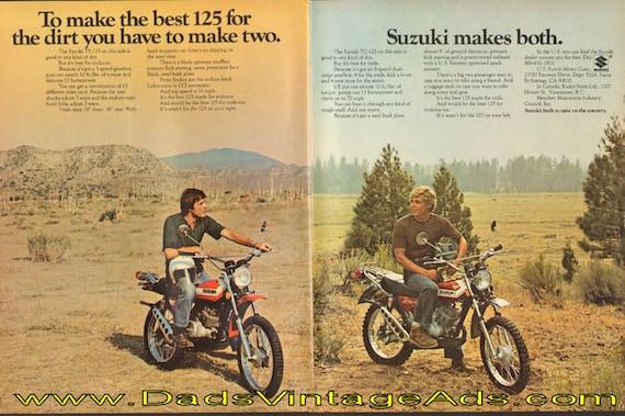 1972 Suzuki TS-125 & TC-125 2-Page Ad #de72ga12