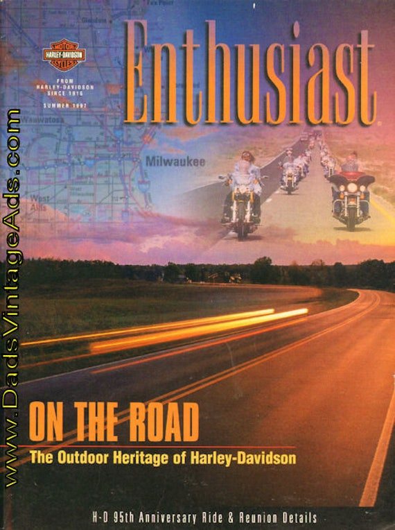 1997 Summer Harley-Davidson Enthusiast Motorcycle Magazine Back-Issue #mb433