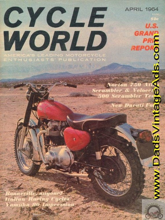 1964 April Cycle World Motorcycle Magazine Back-Issue #6404cw