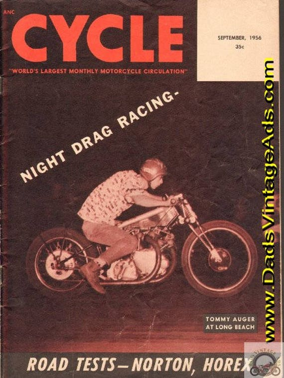 1956 September Cycle Motorcycle Magazine Back-Issue #5609cyc