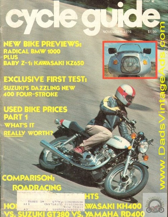 1976 November Cycle Guide Motorcycle Magazine Back-Issue #7611cg