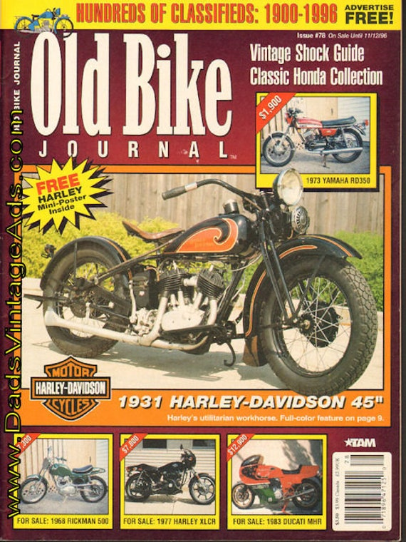 1996 October 22 Old Bike Journal #78 Motorcycle Magazine Back-Issue #961022obj