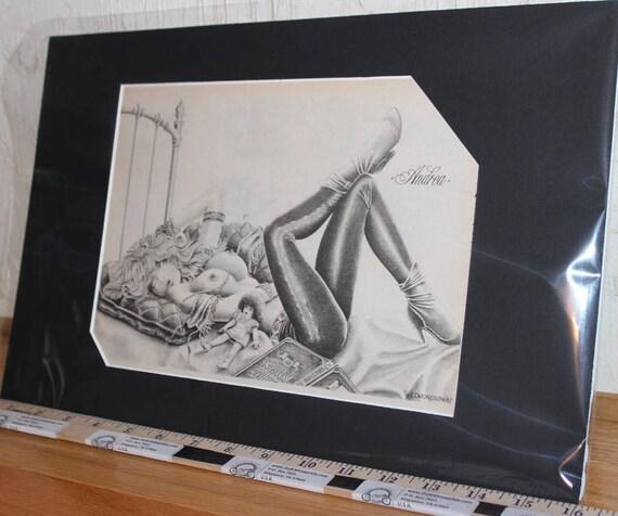 Easyriders ''Andrea'' D. James Edmondson Matted Biker Art #8708ezredm