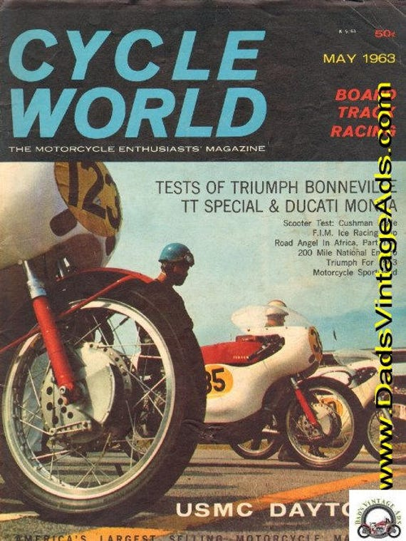 1963 May Cycle World Motorcycle Magazine Back-Issue #6305cw