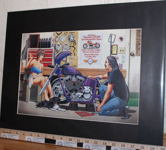 "David Mann ""Fourth Annual Easyriders Bike Show"" 16'' x 20'' Matted Biker Art #9202ezrxmb"