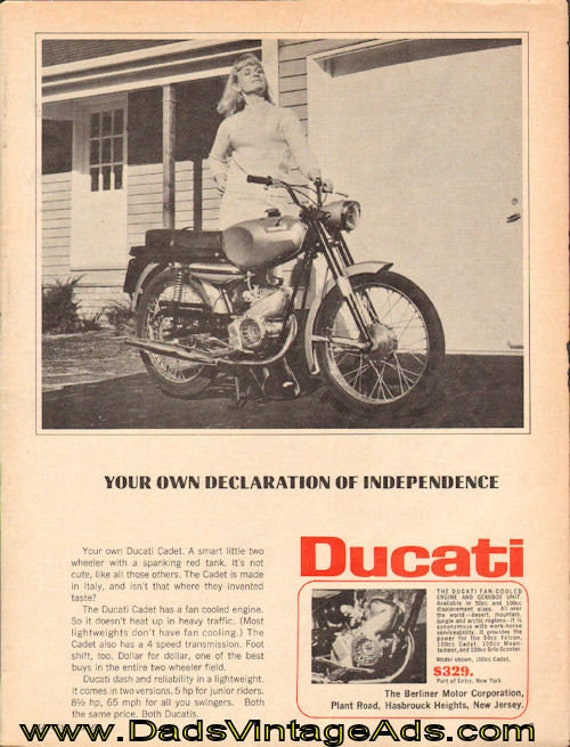 1966 Ducati Cadet ''Declaration of Independence'' Ad #d66ca02