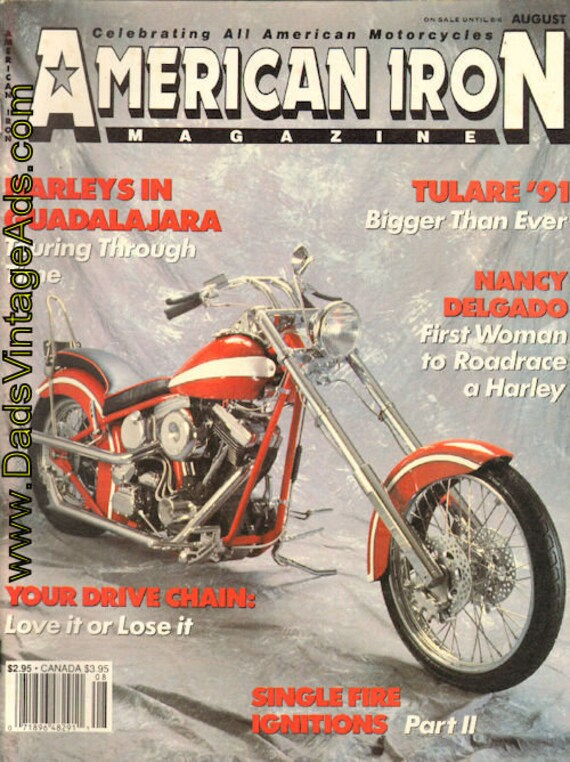 1991 August American Iron Motorcycle Magazine Back-Issue #mb559