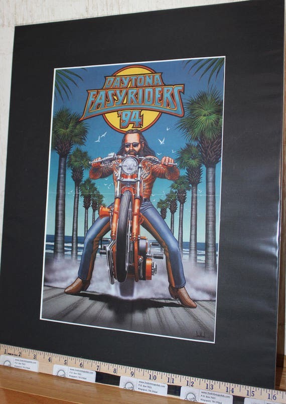 "David Mann ""Daytona Easyriders '94"" 16'' x 20'' Matted Motorcycle Biker Art #9403ezrxmb"
