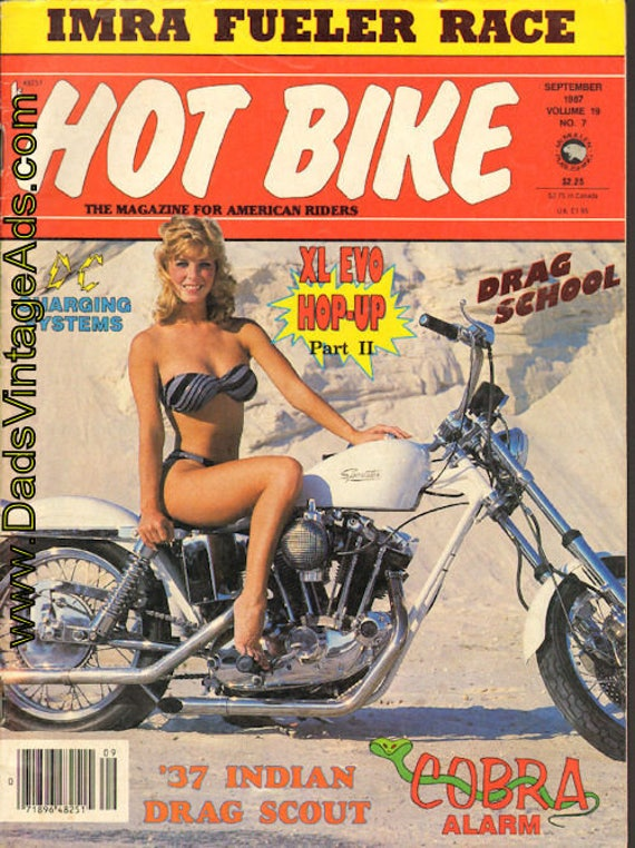 1987 September Hot Bike Motorcycle Magazine Back-Issue #8709hb