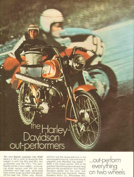 1969 Harley-Davidson Sprint 350 Rapido 125 Motorcycle Ad #nao11