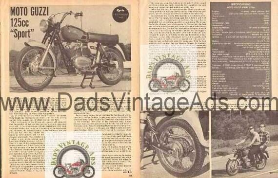 1966 Moto Guzzi Sport 125 cc Motorcycle Road Test 3-Page Photo Article #nbt02