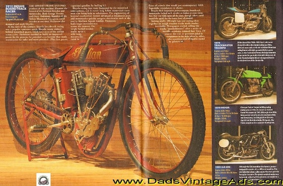 2005 Photo / Article: 1912 Indian Boardtrack Racer - 2-Pages #t05aa06