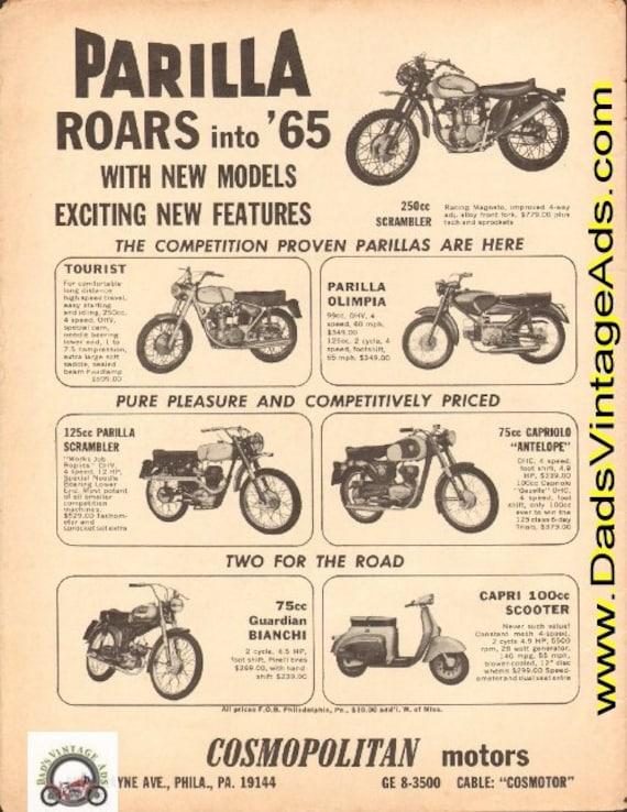 1965 Parilla Motorcycles roars into '65 Ad #d65ca04
