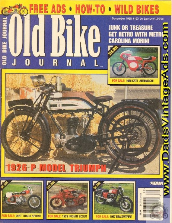 1998 December Old Bike Journal Motorcycle Magazine Back-Issue #9812obj