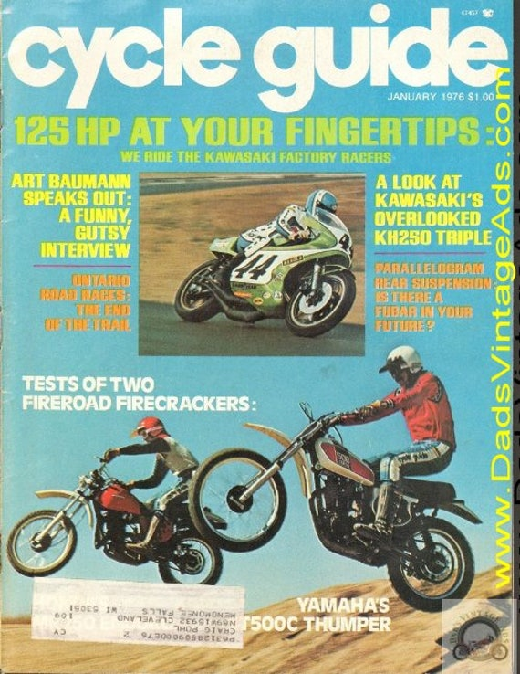 1976 January Cycle Guide Motorcycle Magazine Back-Issue #7601cg